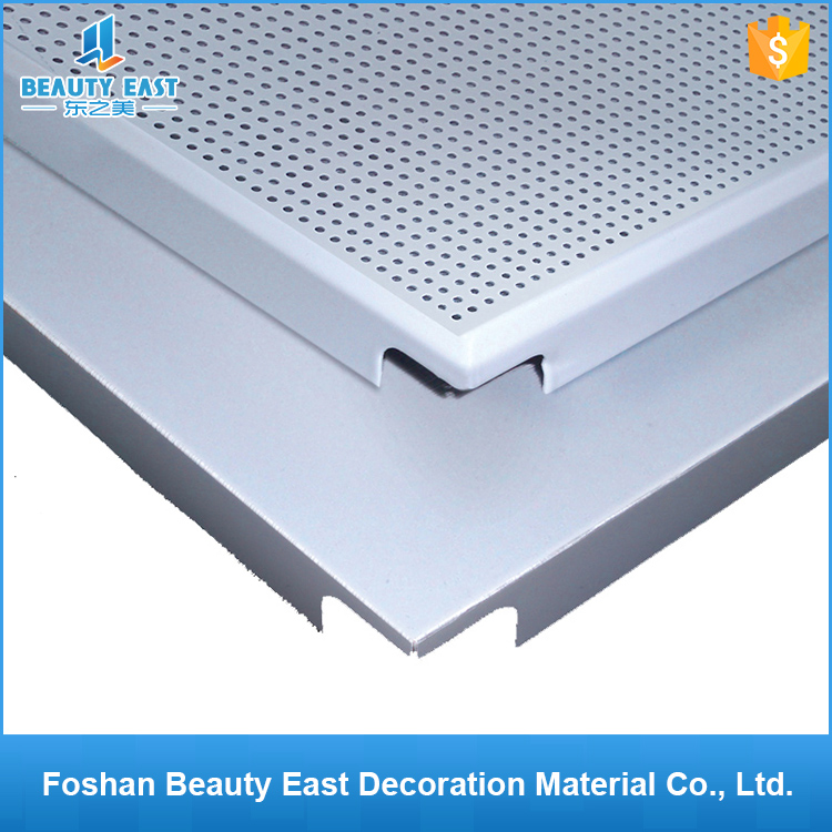 No minum order factory price metal ceiling board / aluminum perforated ceiling panel