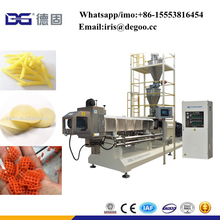 Twist potato chips pellet snacks production line/Extruded snack products pellet making machine/ 3d 2d fryer China factory price
