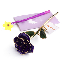 4UGIFT Hot Selling Girlfriends' Gift Purple Forever Single Rose Flower For Wedding