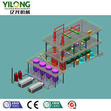 Continuous used engine oil recycling machine with PLC control