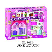 2017 hot selling toy house / plastic mini house toy / toy model houses