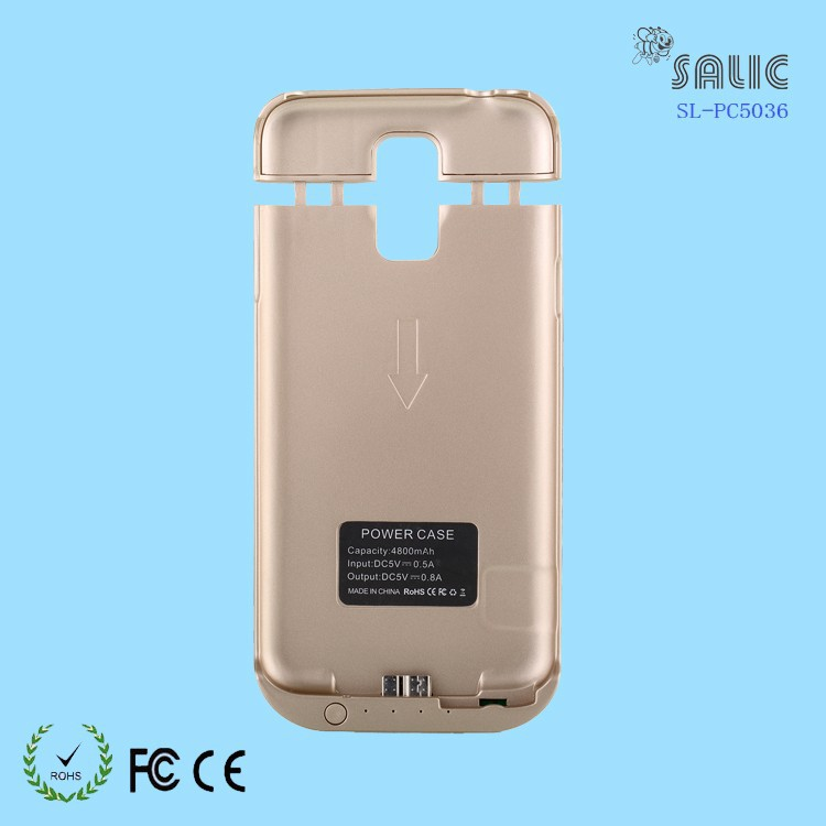 4800mAh recharge battery case, power charger case for samsung galaxy S5,battery case for samsung 19600 galaxy s5
