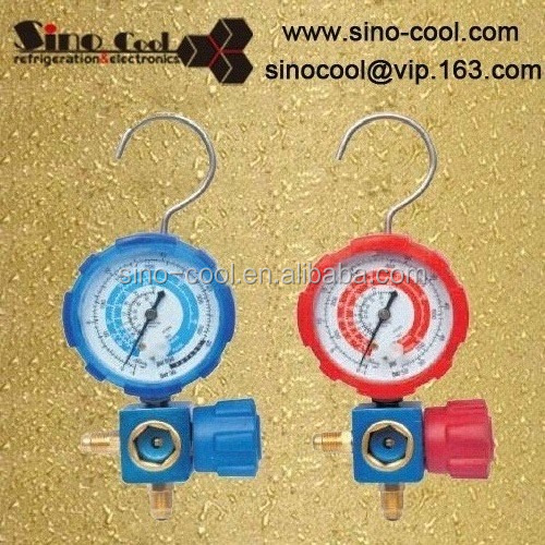 Refrigeration single manifold gauge