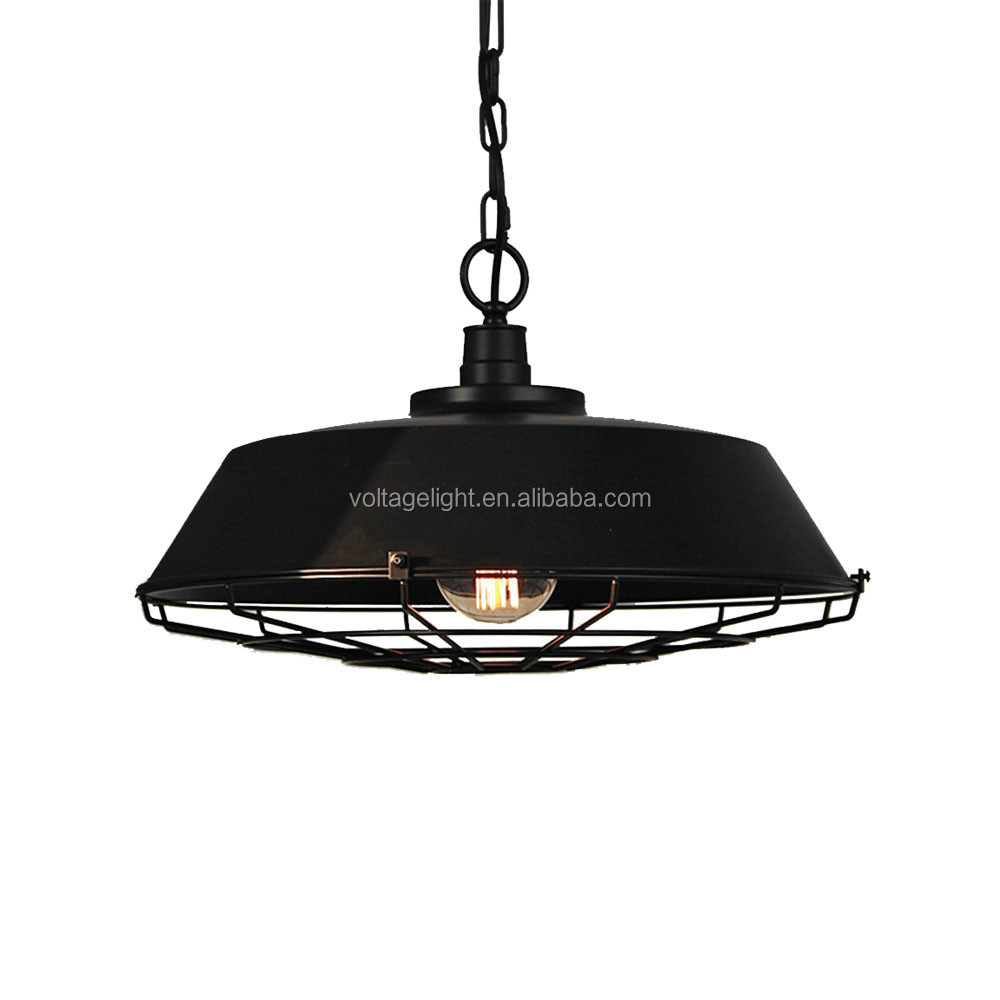 Decorative Pendent lighting Popular Classic Industrial Vintage Black Metal Pendant lamp light
