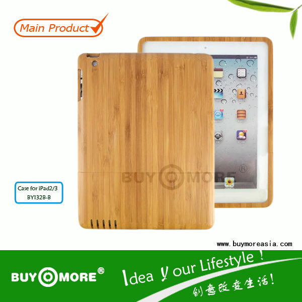 wholesale price for bamboo ipad mini cover with 2 part bamboo