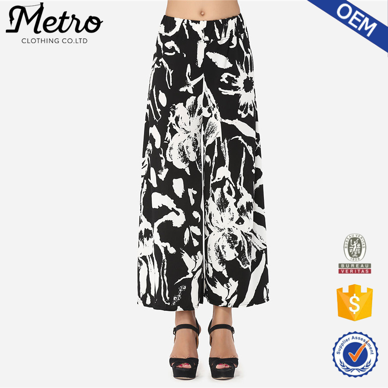 New Design Women Casual Floral Printed Palazzo Pants
