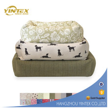 Rosy Round Pet Bed With Bone High Quality 2017 yintex Shape Pillow Plush Dog Bed