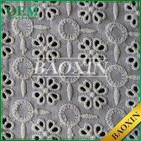 Most popular Small MOQ Wholesale embroidery lace curtain fabric