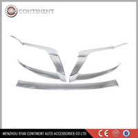 Car exterior accessories ABS chrome body part headlight cover for Prado