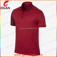 Red dri fit comfortable polo shirts for man