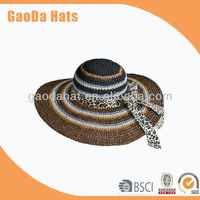 2013 new design fashion ladies crochet hat with flower