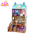 2018 New hottest large wooden princess castle dollhouse for girls W06A266