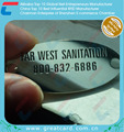 Shiny Nickel Plated Stainless Steel Number Tag For Furniture