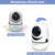 Videotimes  2.4'' Wireless Video Monitor with Remote control, Infrared Night Vision and Twoway talkback  for Baby
