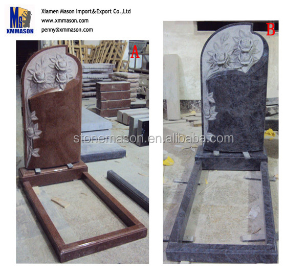 Monuments headstones marble and granite