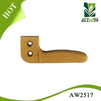 Handle for utensils with metal decorative