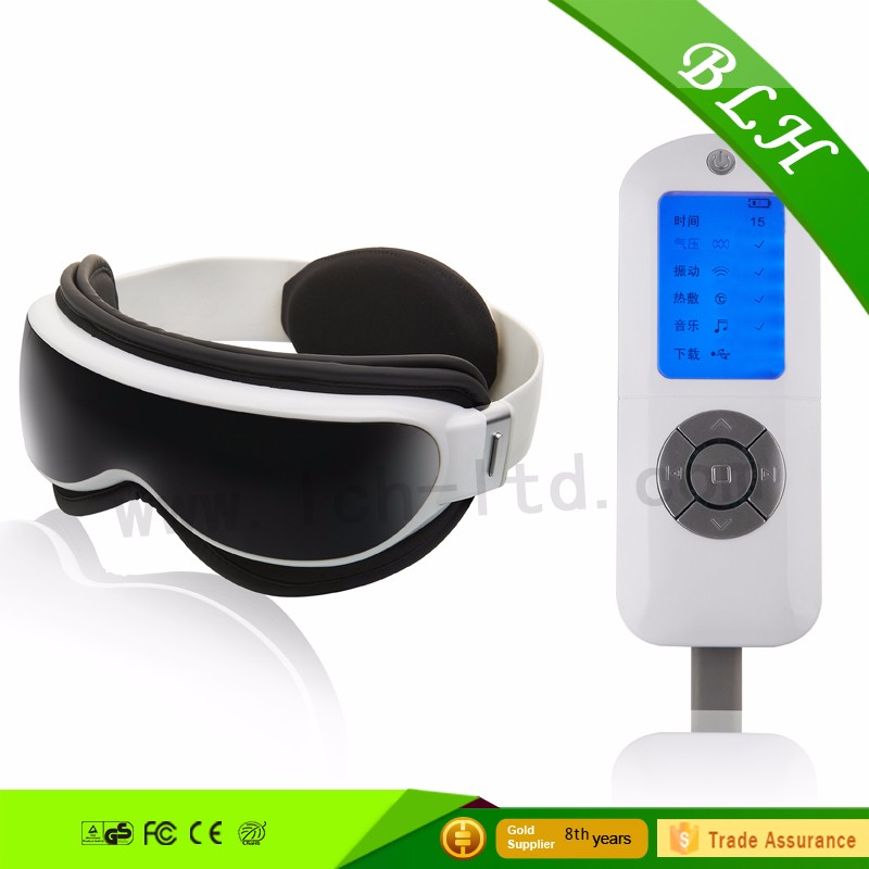 Logo branded eye temple heated eye massager Factory air pressure eye mask massager