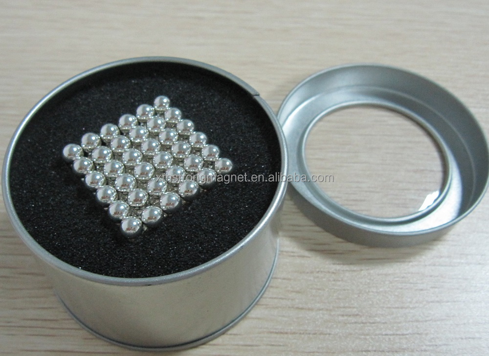 hot sale 216pcs diameter 5mm silvery color neodymium magnet ball <strong>toy</strong> cube <strong>toy</strong>