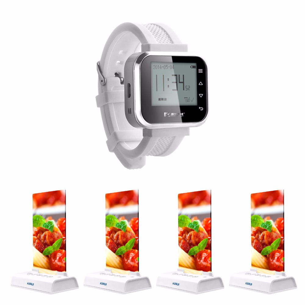 Long range receiving wireless restaurant calling waiter server paging service system - table calling button
