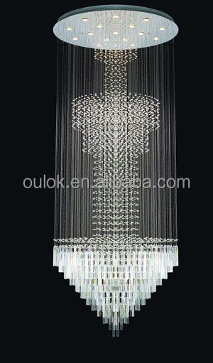 Modern Luxury led crystal chandelier for lobby hotel Hanging Ceiling Light Round Pendant lamp