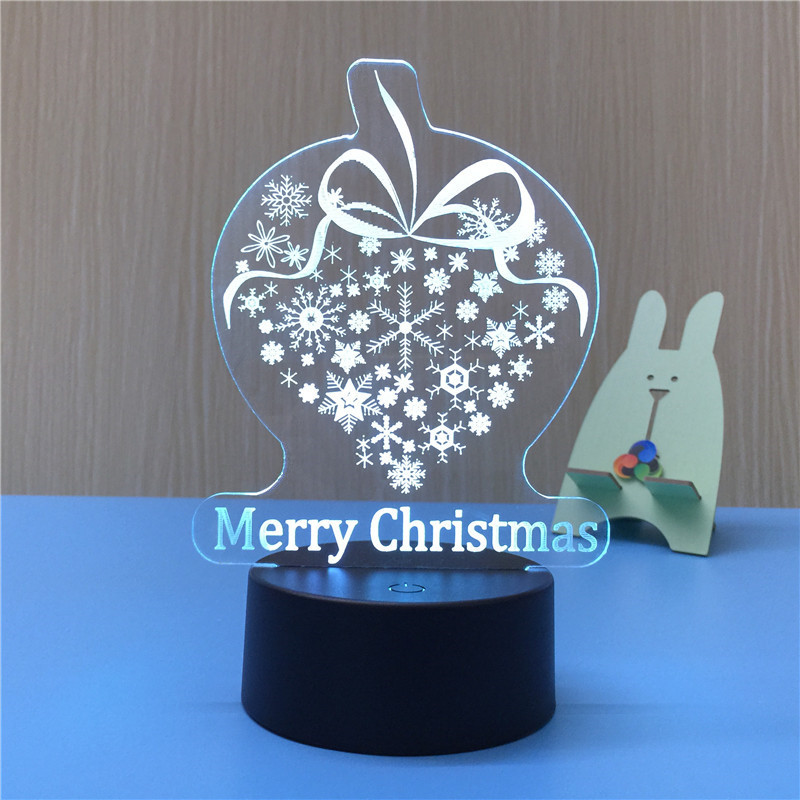 New <strong>product</strong> 3D illusion visual rainbow LED night light for Christmas decoration