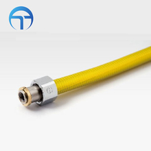 Yellow Coated Flexible Gas Stove Connector