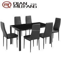 metal tempered glass 1 table 4 chairs Dinette Set