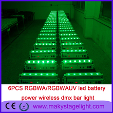 city color building wash wall light decoration light rgbwa led bar 6pcs*15W 5in1 led uplighting