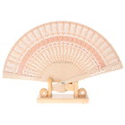 Wedding favors Chinese carved folding bamboo hand fans