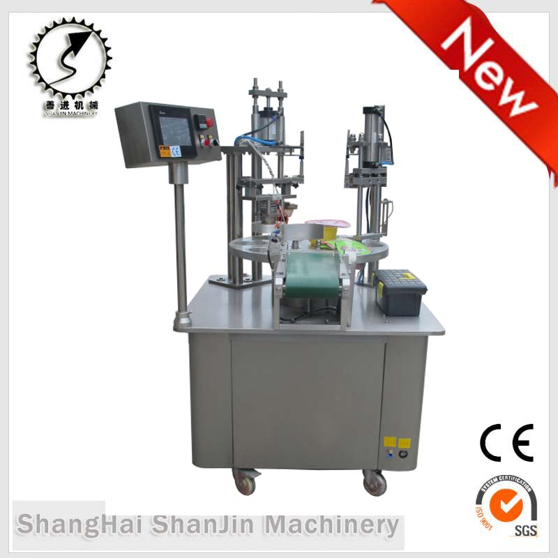 Dairy products cups boxes automatic fill seal packaging machinery