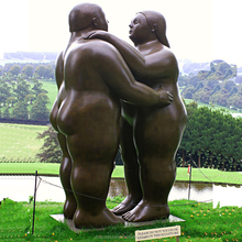 Garden bronze naked girl botero sculpture reproductions