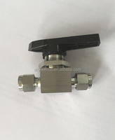 Stainless stell 1/4 inch mini ball valve,panel mounted ball valve, 3000psi ball valve