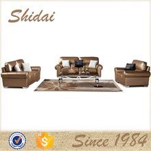 living room leather sofa, natural leather sofa, brown and beige leather sofa LV-956RE
