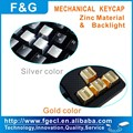 metal(ZINC) backlight keycap for mechanical keyboard