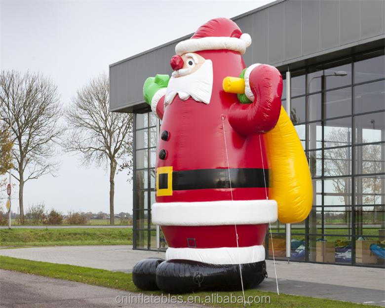 4-FT Airblown - Indoor Santa with Gift Bag