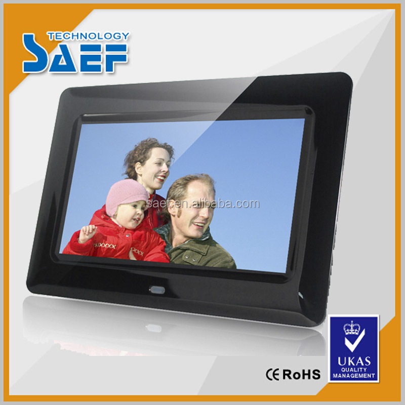 7'' tft lcd 1024*600 lcd tv advertising led display with/without touch panel