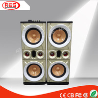 music instruments prices2.0 cheap DJ nightclub bar speakers with stage light usb sd card jack