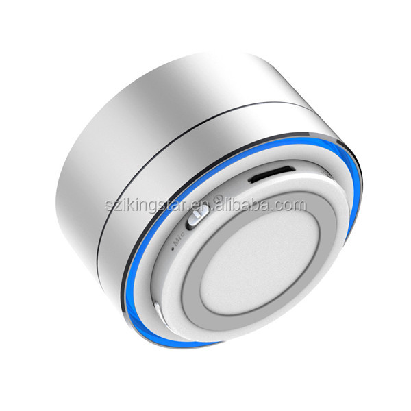 Aluminum Alloy Led Light Cylinder Wireless A10 Bluetooth Speaker