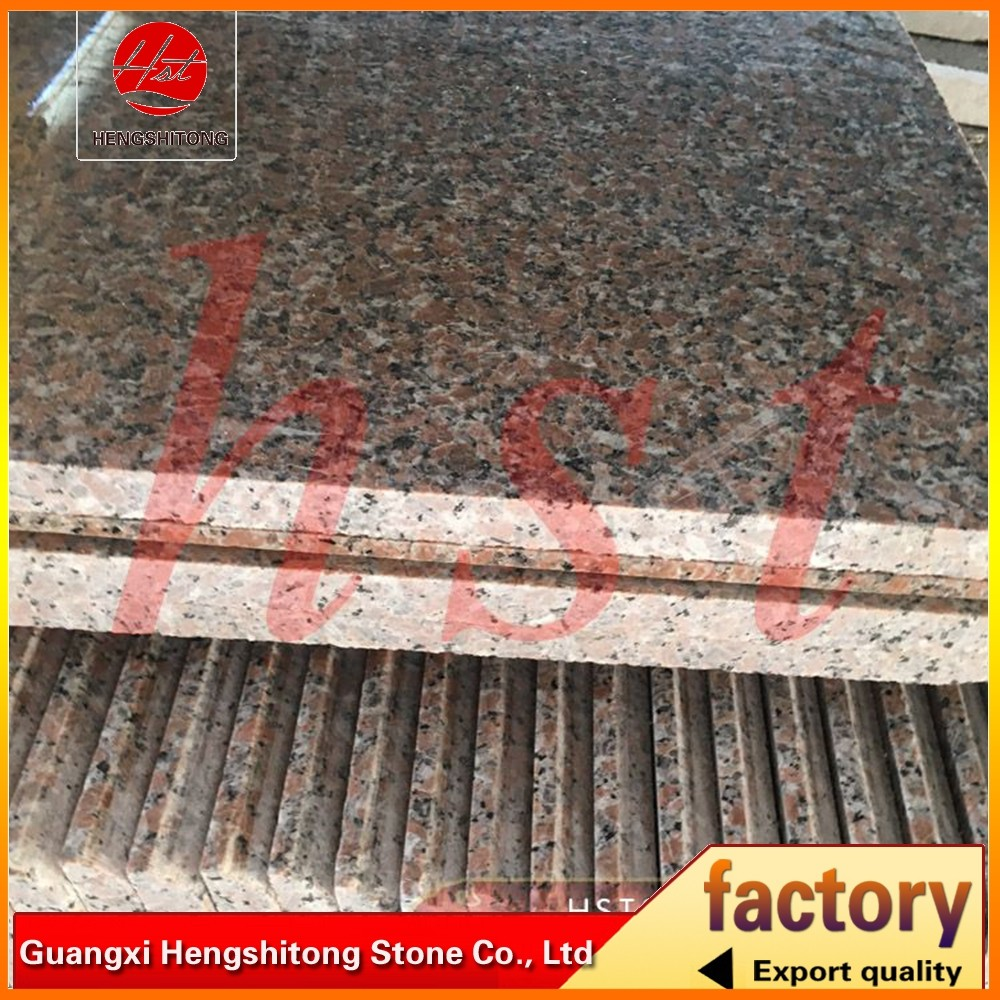 Quality red black granite exported to America