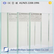 Weihao Glass factory 8mm 10mm 12mm clear tempered laminated glass