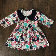 2017 custom design baby dress pure cotton smock toddler frocks floral series kids clothes for summer