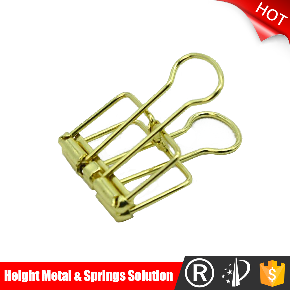 Popular design hollowed high quality metal long tail binder clips
