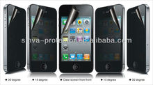 lcd privacy anti-peep secret anti-spy screen protector for iphone 4g