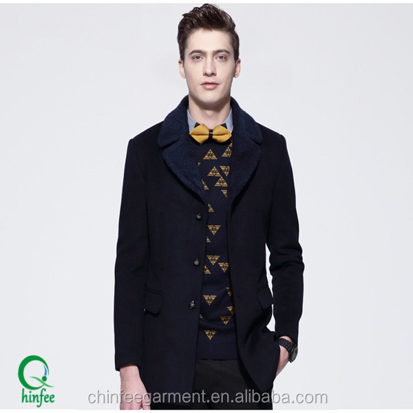 High Quality Mens Winter New Wool Jacket Coats With Fur Collar