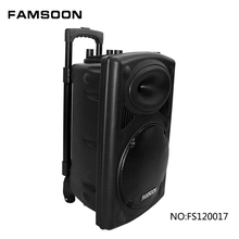12 inch subwoofer speaker box with wireless microphone