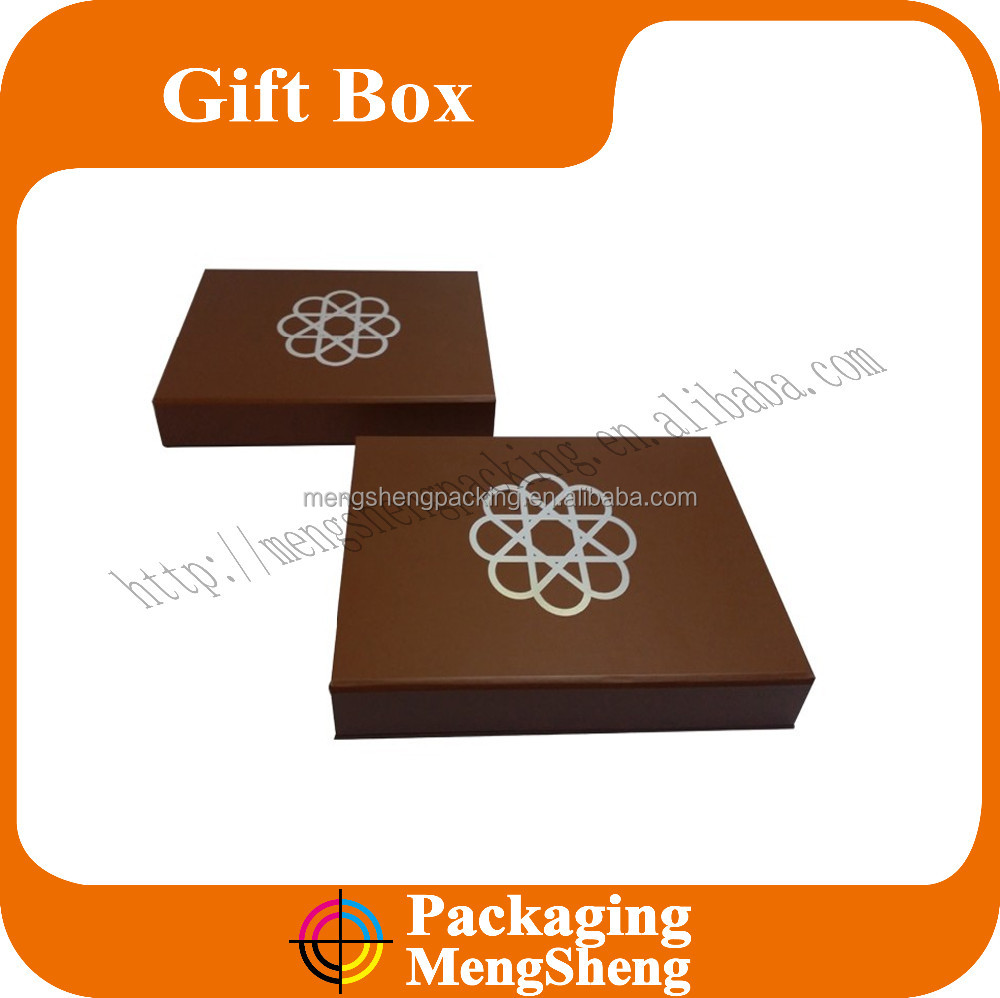 China supplier custom packaging jewelry box lid and bottom shape