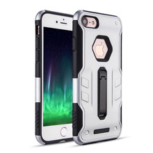 Low price Metal ring stander PC frame TPU phone case for iPhone 8