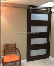 cheap stainless steel hardware slab barn wooden doors for sale