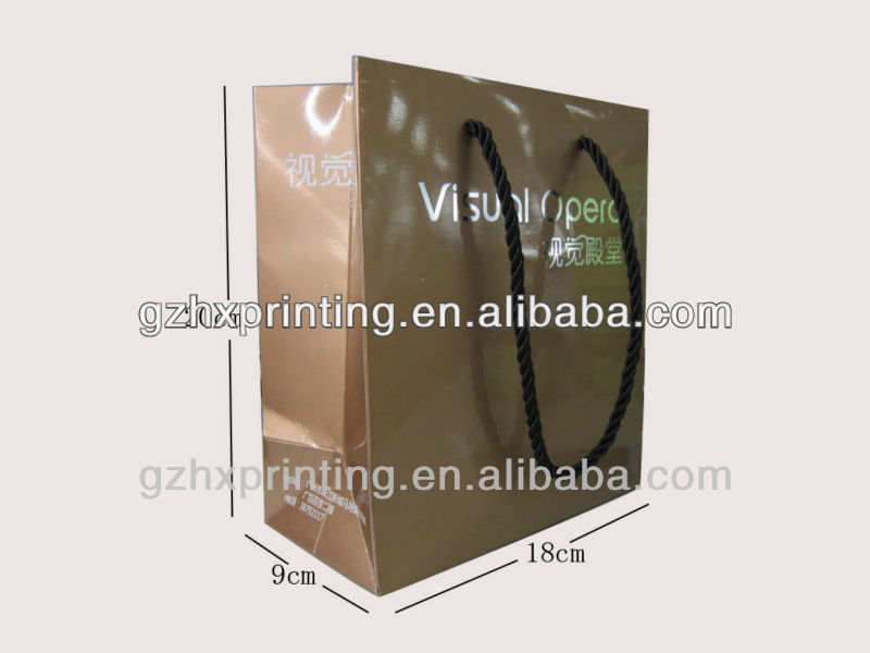 Huaxin brown paper grocery bag to save the room