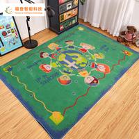 Blue 230cm * 160cm wool area rugs 100% wool braided rugs axminster rugs sale